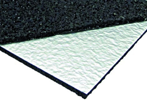 Regupol® resist solar FH AK besitzt eine unterseitige Kaschierung mit Alu-Triplex-Folie. Sie verhindert Weichmachermigration zwischen nicht gummiverträglichen Abdichtungsfolien (z. B. Weich-PVC) und der Schutzschicht.